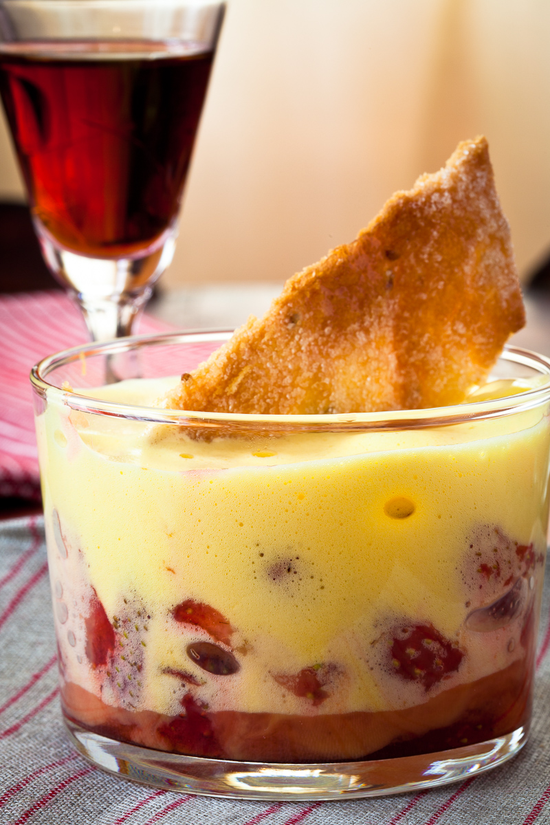 Strawberries with Marsala Zabaglione | The Garum Factory