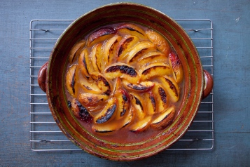 Coconut Yogurt Cake with Roasted Peaches-15
