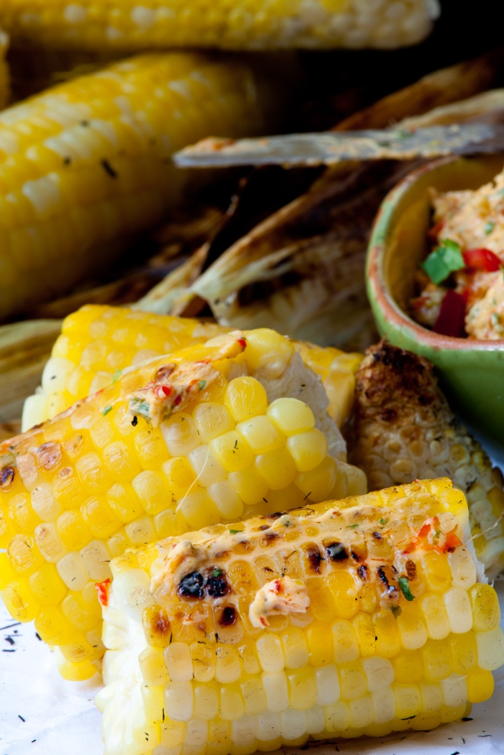 Grilled corn with Roasted Pepper Butter-12