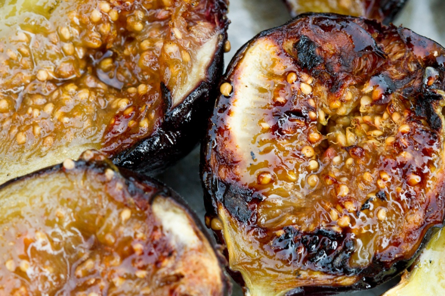 Grilled Figs with Creme Fraiche and Chestnut Honey-14