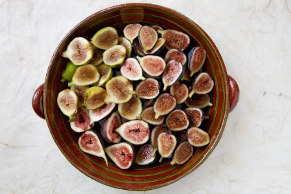 Grilled Figs with Creme Fraiche and Chestnut Honey-5