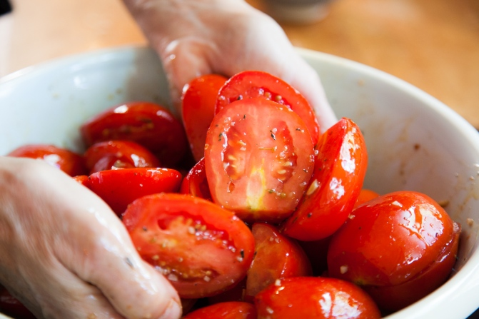 Slow-Roasted Plum Tomatoes with Herb Salt-10
