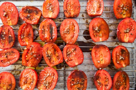 Slow-Roasted Plum Tomatoes with Herb Salt-12
