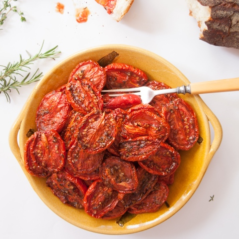 Slow-Roasted Plum Tomatoes with Herb Salt-14