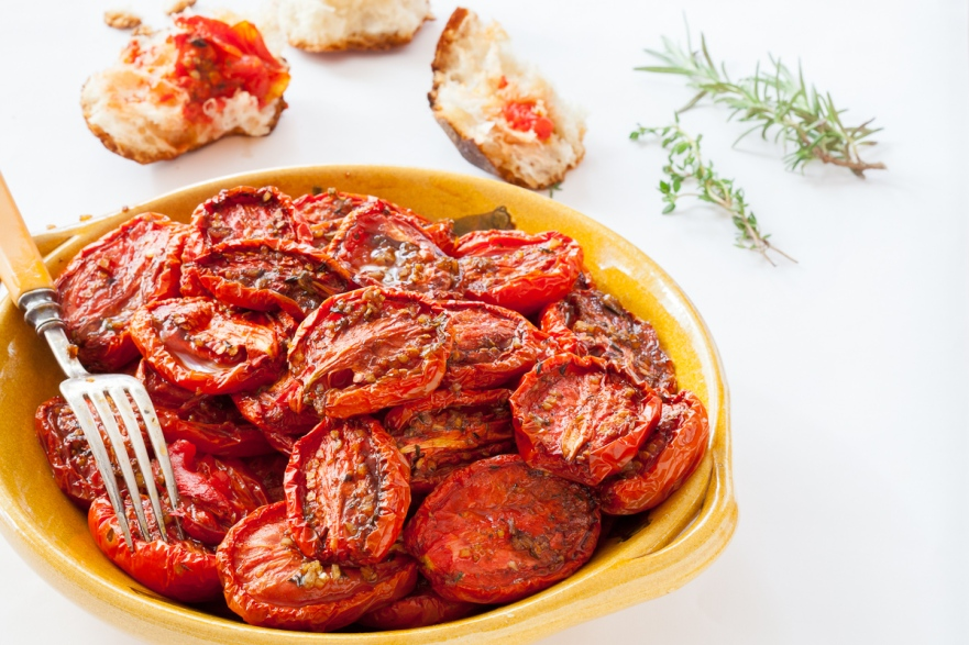 Slow-Roasted Plum Tomatoes with Herb Salt-15