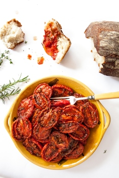 Slow-Roasted Plum Tomatoes with Herb Salt-1