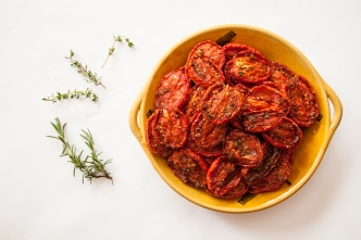 Slow-Roasted Plum Tomatoes with Herb Salt-17