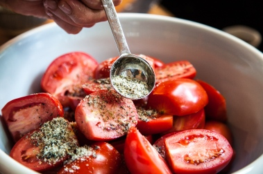 Slow-Roasted Plum Tomatoes with Herb Salt-7