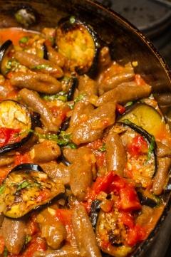 Cavatelli with Tomato-Eggplant Sauce and Ricotta Salata-17