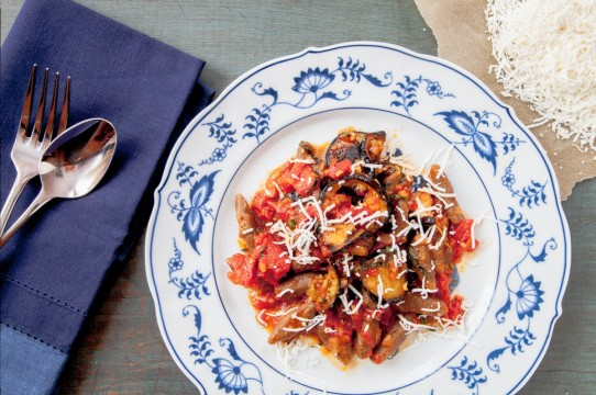 Cavatelli with Tomato-Eggplant Sauce and Ricotta Salata-18