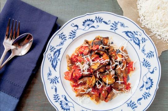 Cavatelli with Tomato-Eggplant Sauce and Ricotta Salata-18