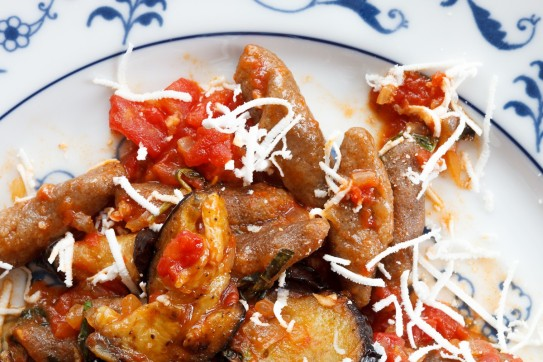 Cavatelli with Tomato-Eggplant Sauce and Ricotta Salata-2
