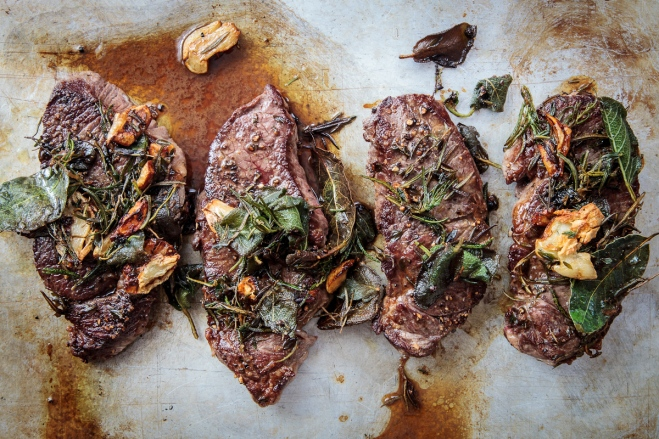 Lamb Steaks with Herbs and Caramelized Garlic-10