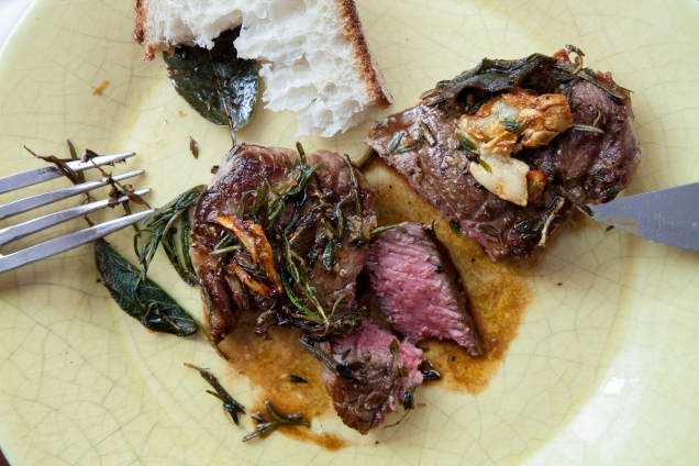 Lamb Steaks with Herbs and Caramelized Garlic-11