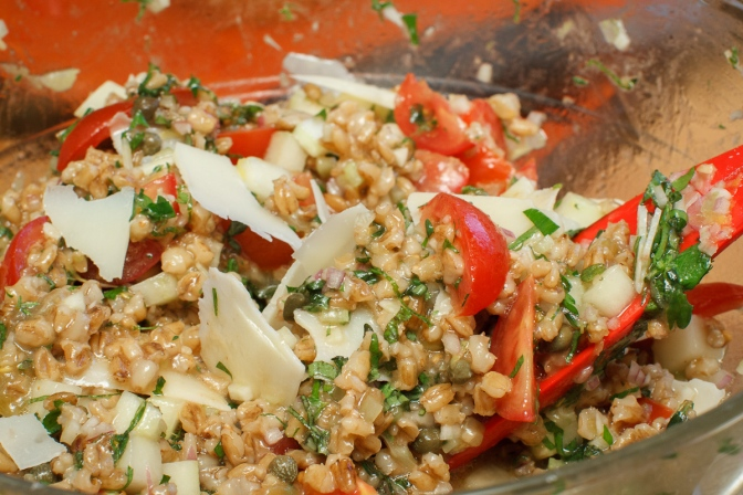 Mediterranean Barley Salad with Pecorino-9