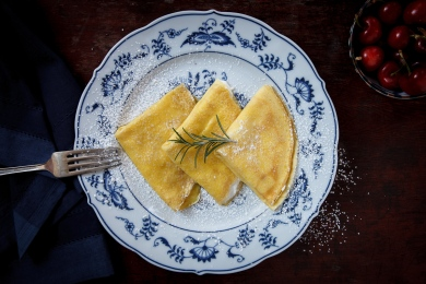 Crespelle with Lemon-Rosemary Ricotta-13