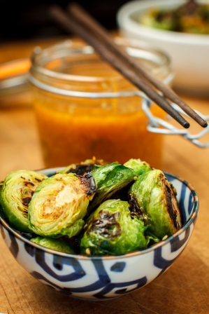 Seared Brussel Sprouts with Vietnamese Dipping Sauce-2