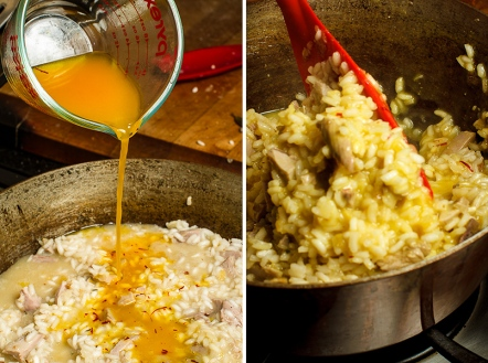 Turkey Risotto with Saffron and Preserved Lemon-8