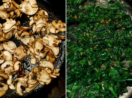Shirred Eggs with Spinach and Mushrooms TGF -3