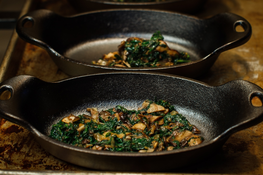 Shirred Eggs with Spinach, Mushrooms and Toast Soldiers | The Garum ...