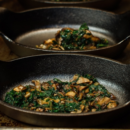 Shirred Eggs with Spinach and Mushrooms TGF -5