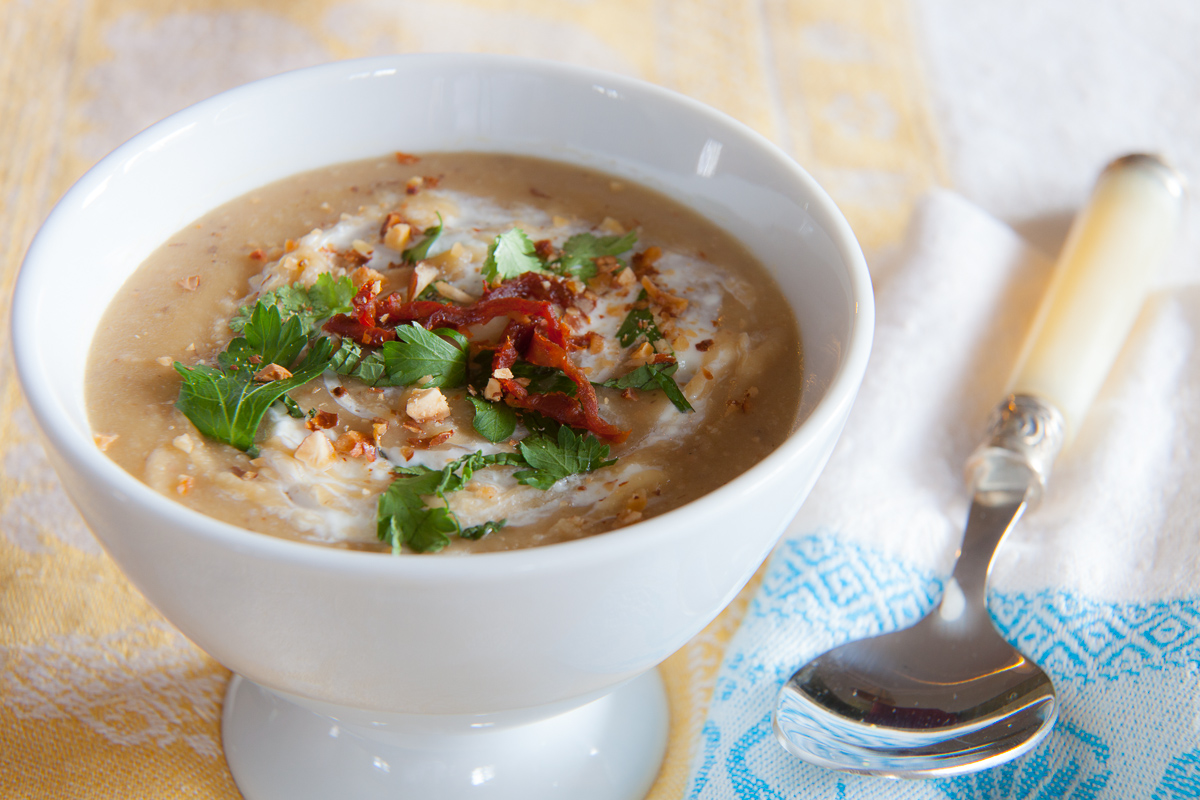 Fava Bean and Almond Soup TGF-1