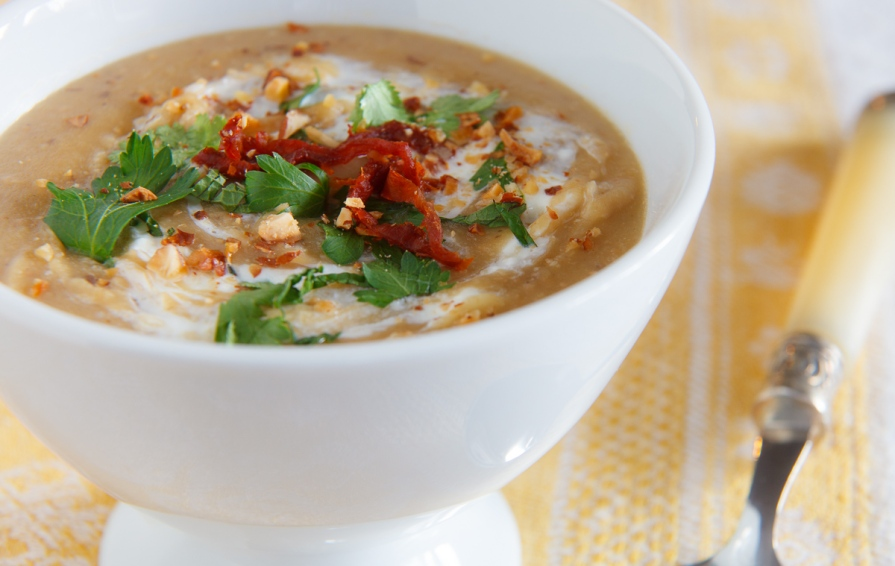 Fava Bean and Almond Soup TGF-8