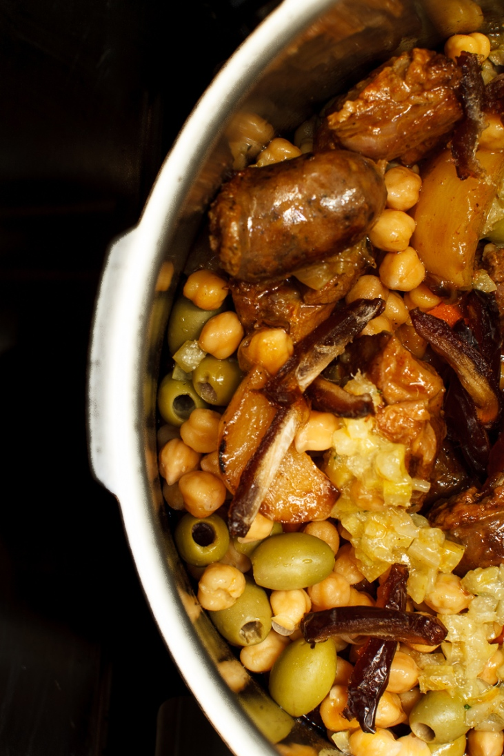 Pressure Cooker Lamb Stew with Chickpeas, Preservred Lemon and Saffron-1