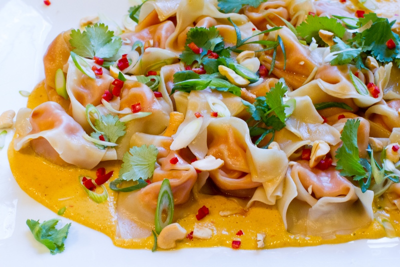 Sweet Potato Wontons with Cashew Sauce-1