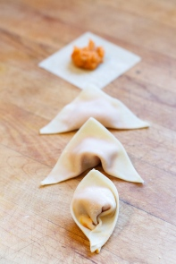 Sweet Potato Wontons with Cashew Sauce-10