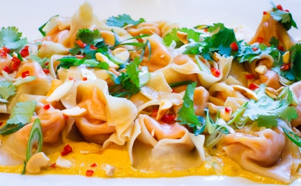 Sweet Potato Wontons with Cashew Sauce-19