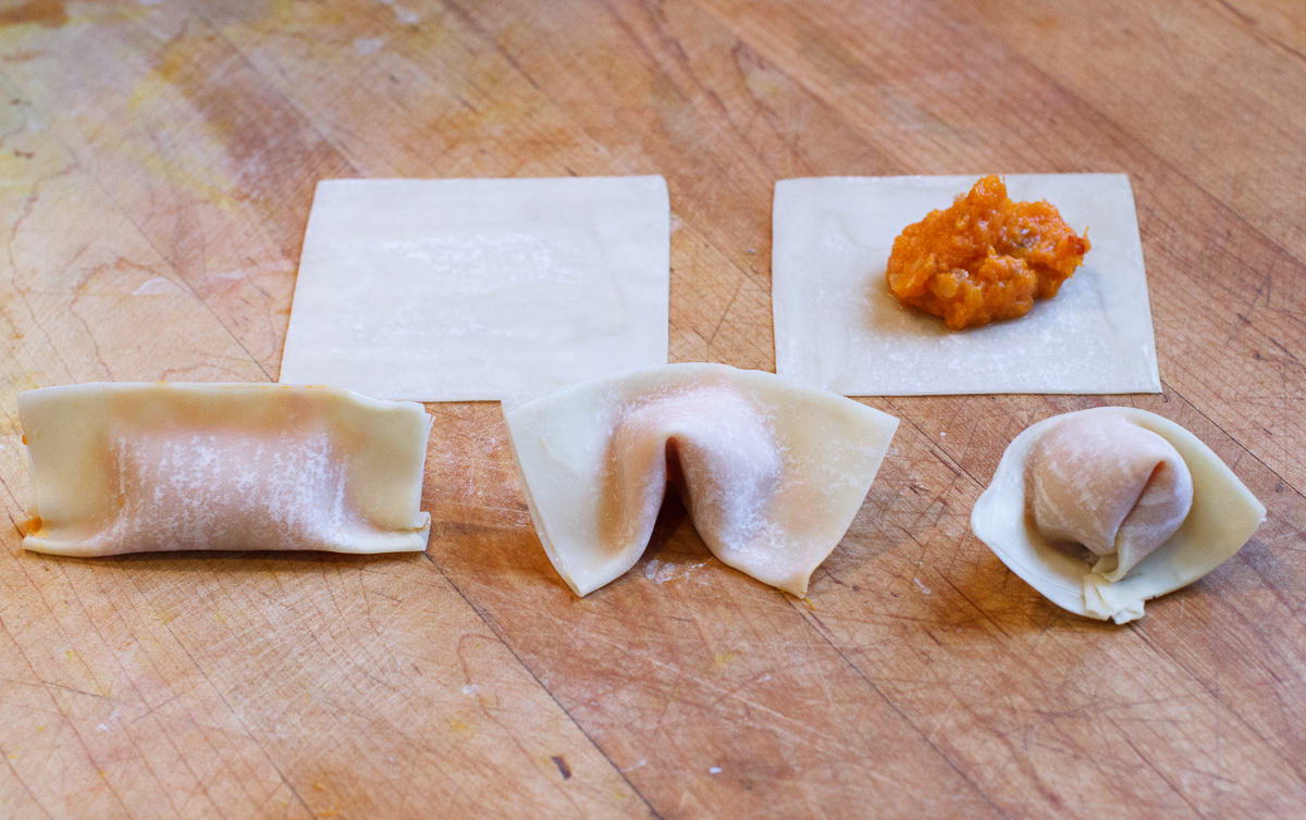 Sweet Potato Wontons with Cashew Sauce-8