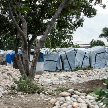 Tent encampment near Port au Prince.
