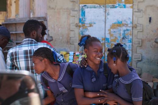 Jacmel schoolgirls.