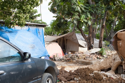Jacmel tent encampment.