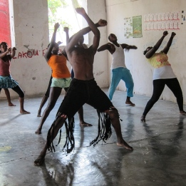 Dance troupe in Jacmel.