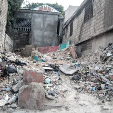 Port au Prince earthquake damage.