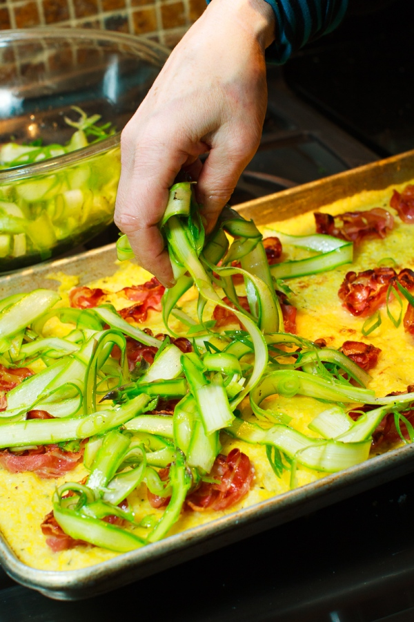 Polenta with Pancetta, Asparagus and Shaved Gouda-20