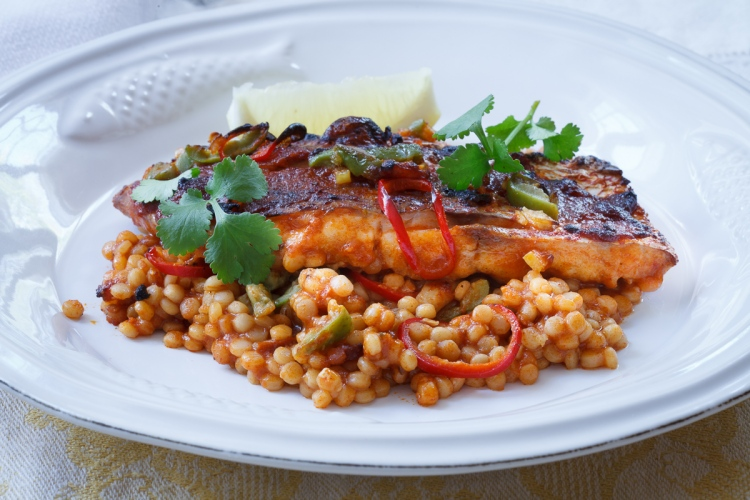 Israeli Couscous with Red Snapper and Preserved Lemon-1