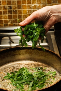 Fiddleheads and Ramps with Salami-11