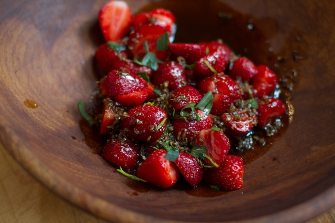 Spring Onion and Strawberry Salad with Pistachio Pesto-17