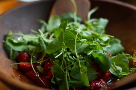 Spring Onion and Strawberry Salad with Pistachio Pesto-18