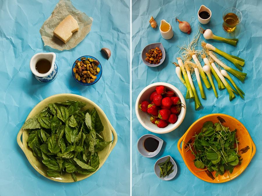 Spring Onion and Strawberry Salad with Pistachio Pesto-2