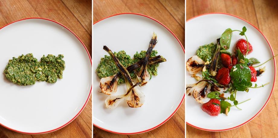 Spring Onion and Strawberry Salad with Pistachio Pesto-20