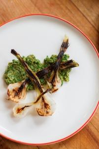 Spring Onion and Strawberry Salad with Pistachio Pesto-22