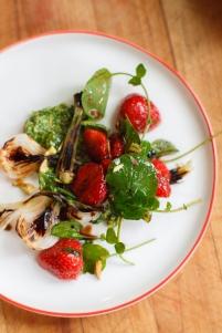 Spring Onion and Strawberry Salad with Pistachio Pesto-23