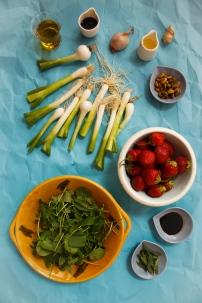 Spring Onion and Strawberry Salad with Pistachio Pesto-5