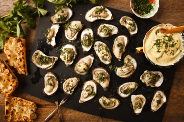 Grilled Oysters with Wasabi Mayo-1