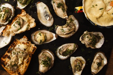 Grilled Oysters with Wasabi Mayo-19