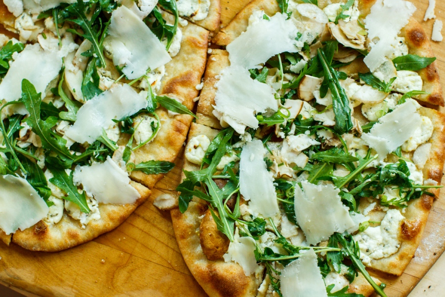 Pizza with Porcini Salad-34